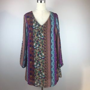 intu Multicolor  Open Shoulder Dress Size L